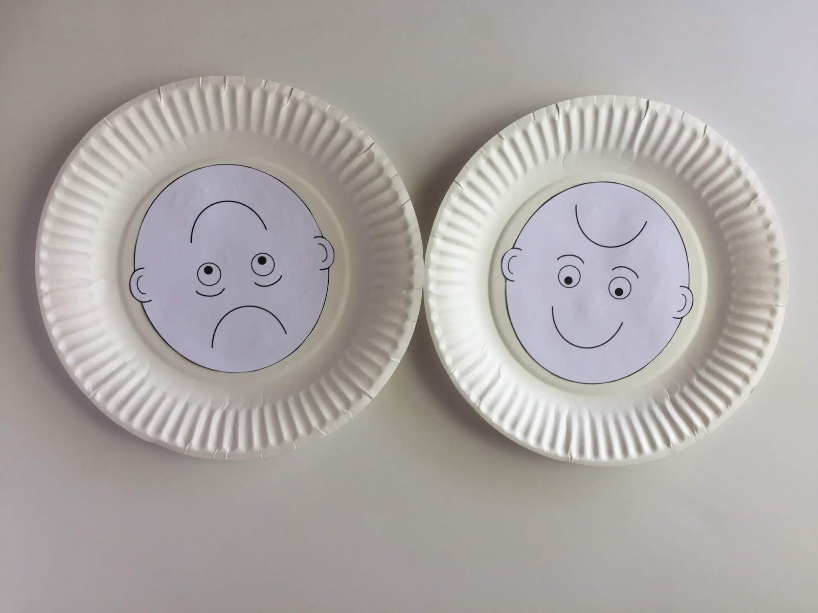 Camille's Primary Ideas: Smiles using paper plate smile and frowny faces
