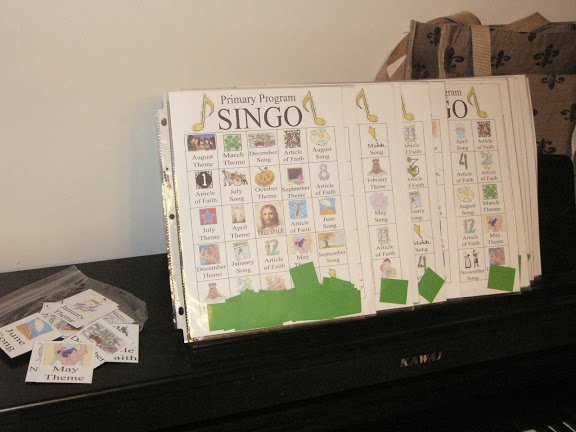 Camille's Primary Ideas: Primary Program Singo singing time review activity