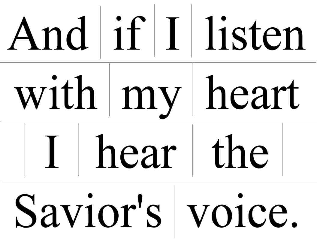 Camille's Primary Ideas: If I Listen With My Heart singing time lesson plan idea for Senior Primary