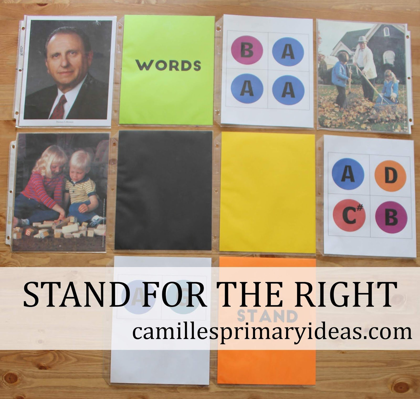 Singing time lesson plan idea for Stand for the Right