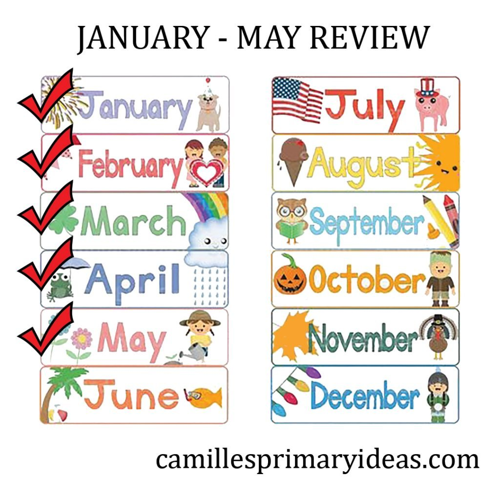 Camille's Primary Ideas: January - May Review Singing Time lesson plan review activity