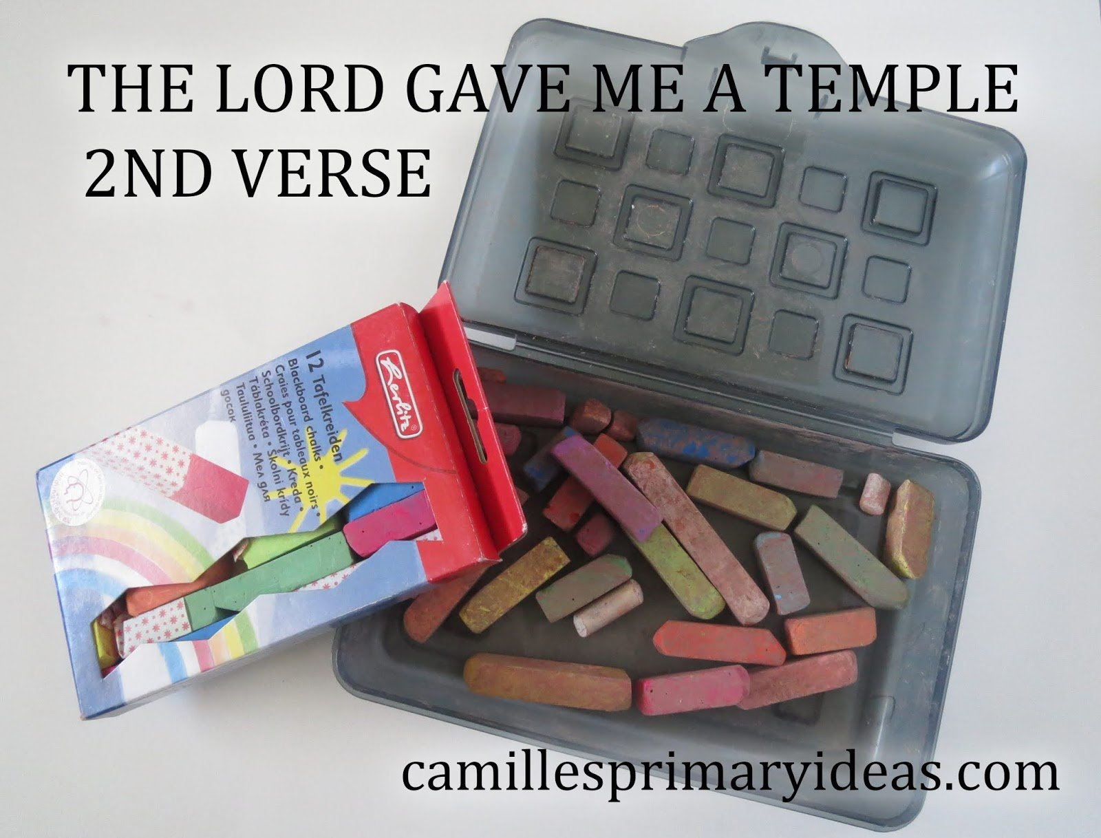 Camille's Primary Ideas: The Lord Gave Me a Temple Singing Time Lesson Plan Idea
