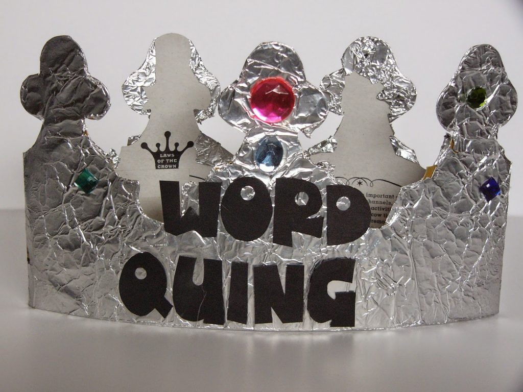 Camille's Primary Ideas Word Quing (Word King or Queen) singing time lesson plan review activity