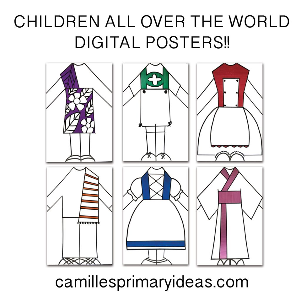 Camille's Primary Ideas Singing Time Lesson Plan for teaching Children All Over the World using Posters