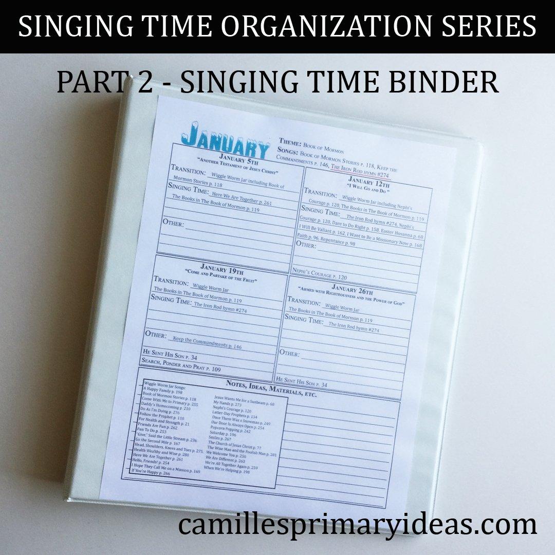 Camille's Primary Ideas: Singing Time Binder - Part 2 Singing Time Organization Series