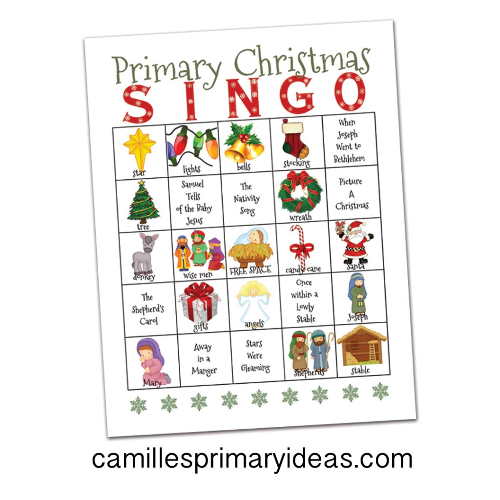 Camille's Primary Ideas Primary Christmas Singo Singing Time Lesson Plan Idea
