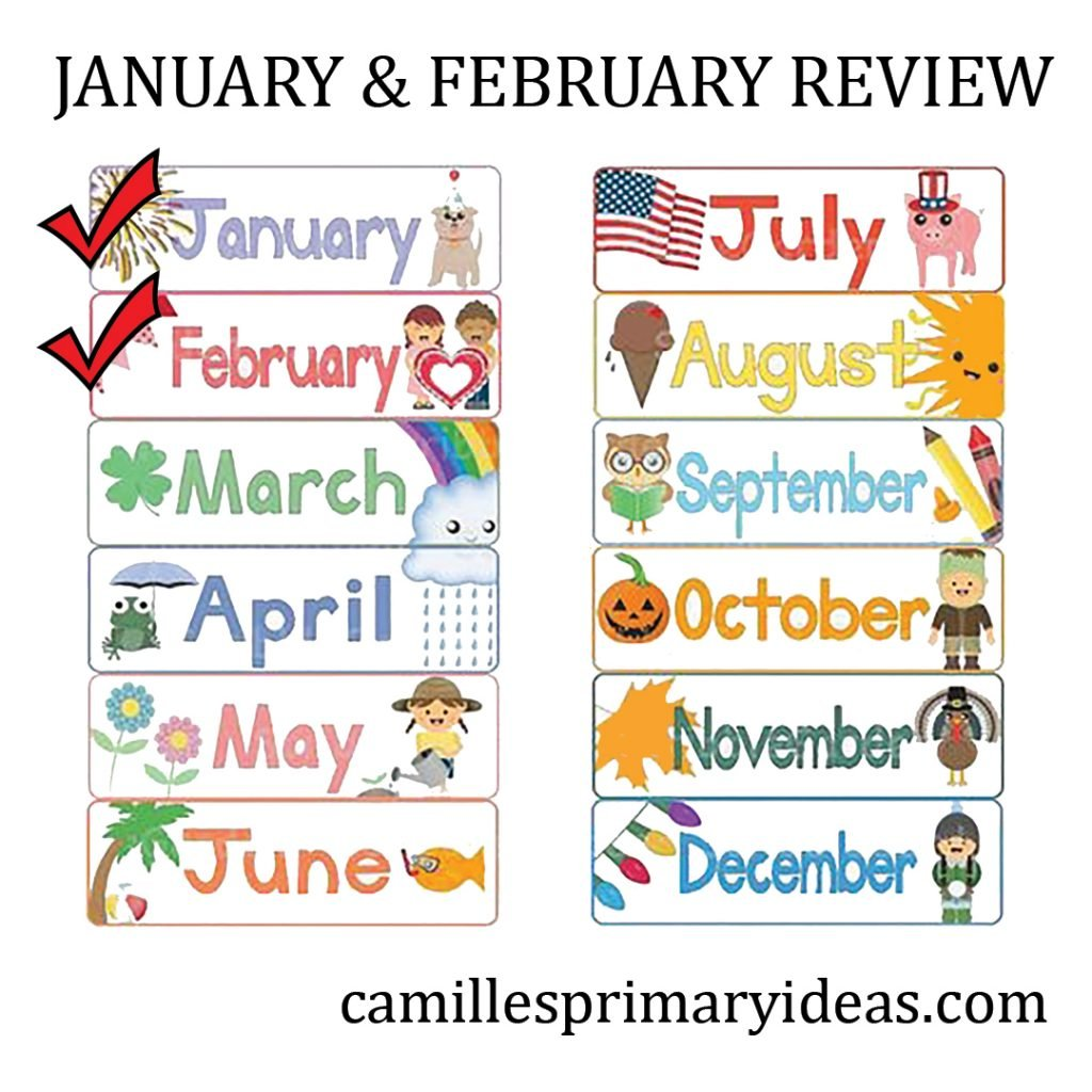 Camille's Primary Ideas: January February Review Singing Time lesson plan review activity