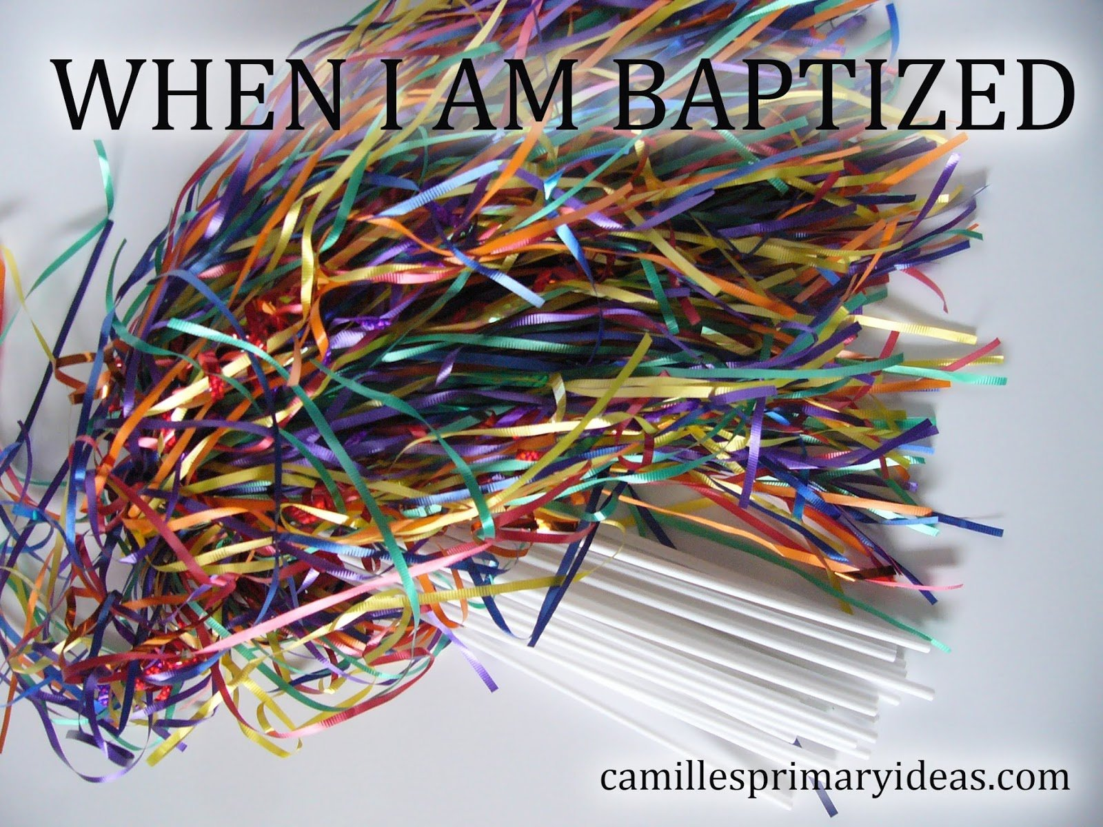 Camille's Primary Ideas singing time lesson plan for When I Am Baptized