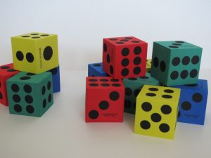 Camille's Primary Ideas: Doubles, easy singing time review activity using dice