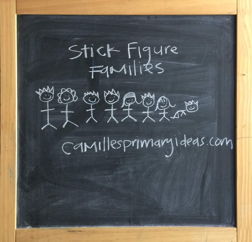 Camille's Primary Ideas: Families Can Be Together Forever Singing Time Lesson Plan Idea using only the chalkboard