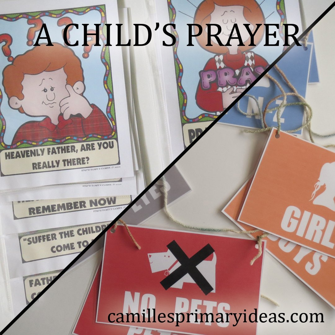 Camille's Primary Ideas: A Child's Prayer Singing Time Lesson Plan Idea