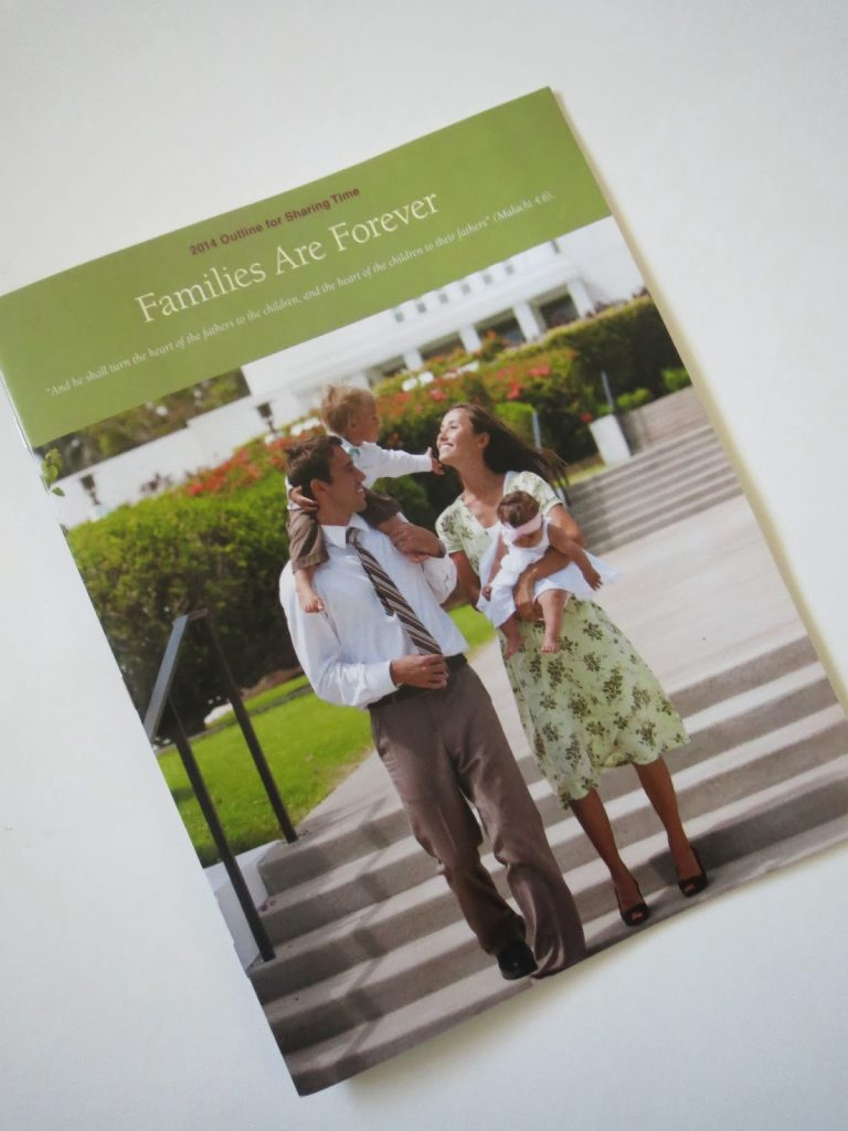 Camille's Primary Ideas: Families Are Forever 2014 Primary Outline Overview