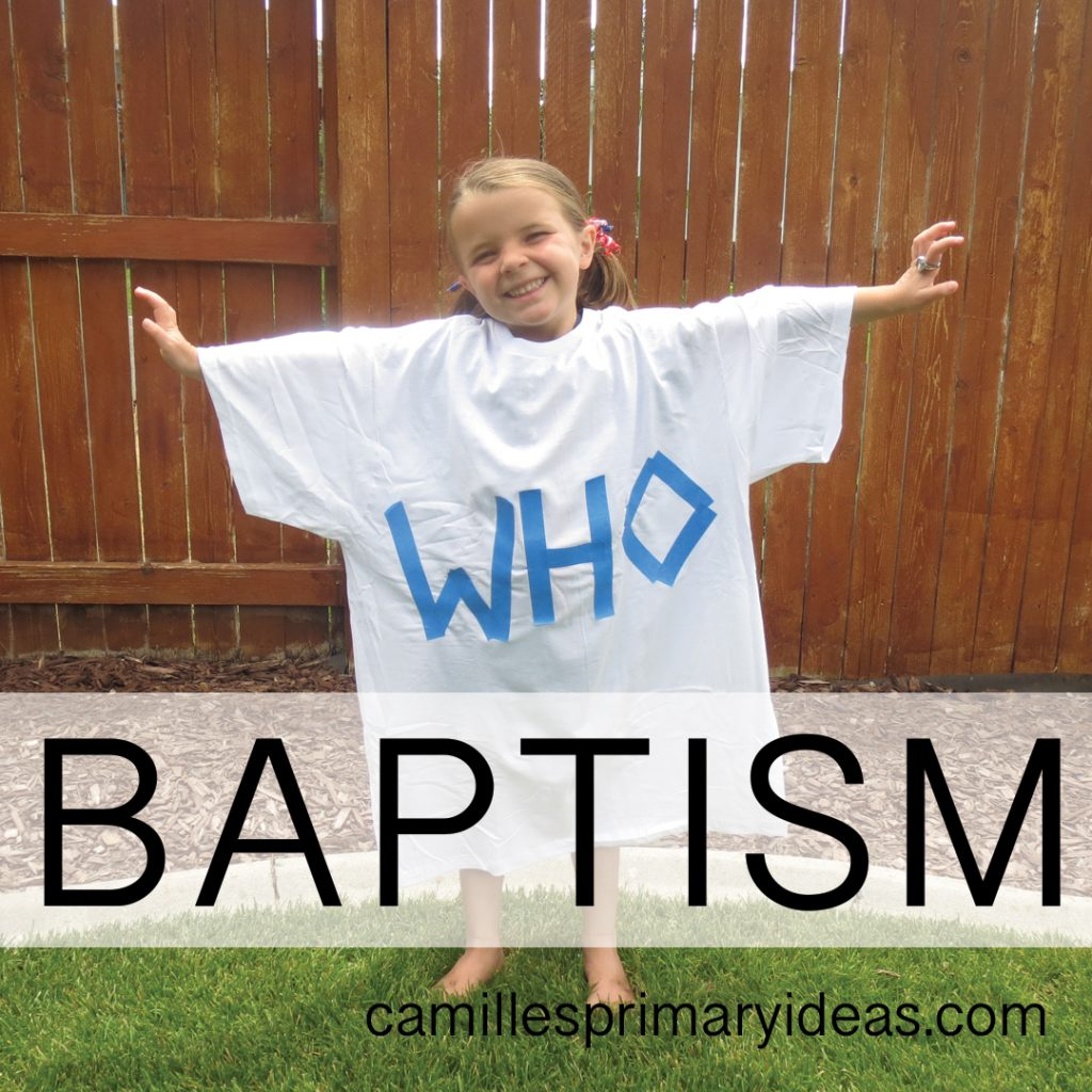 Camille's Primary Ideas Baptism Singing Time Lesson Plan