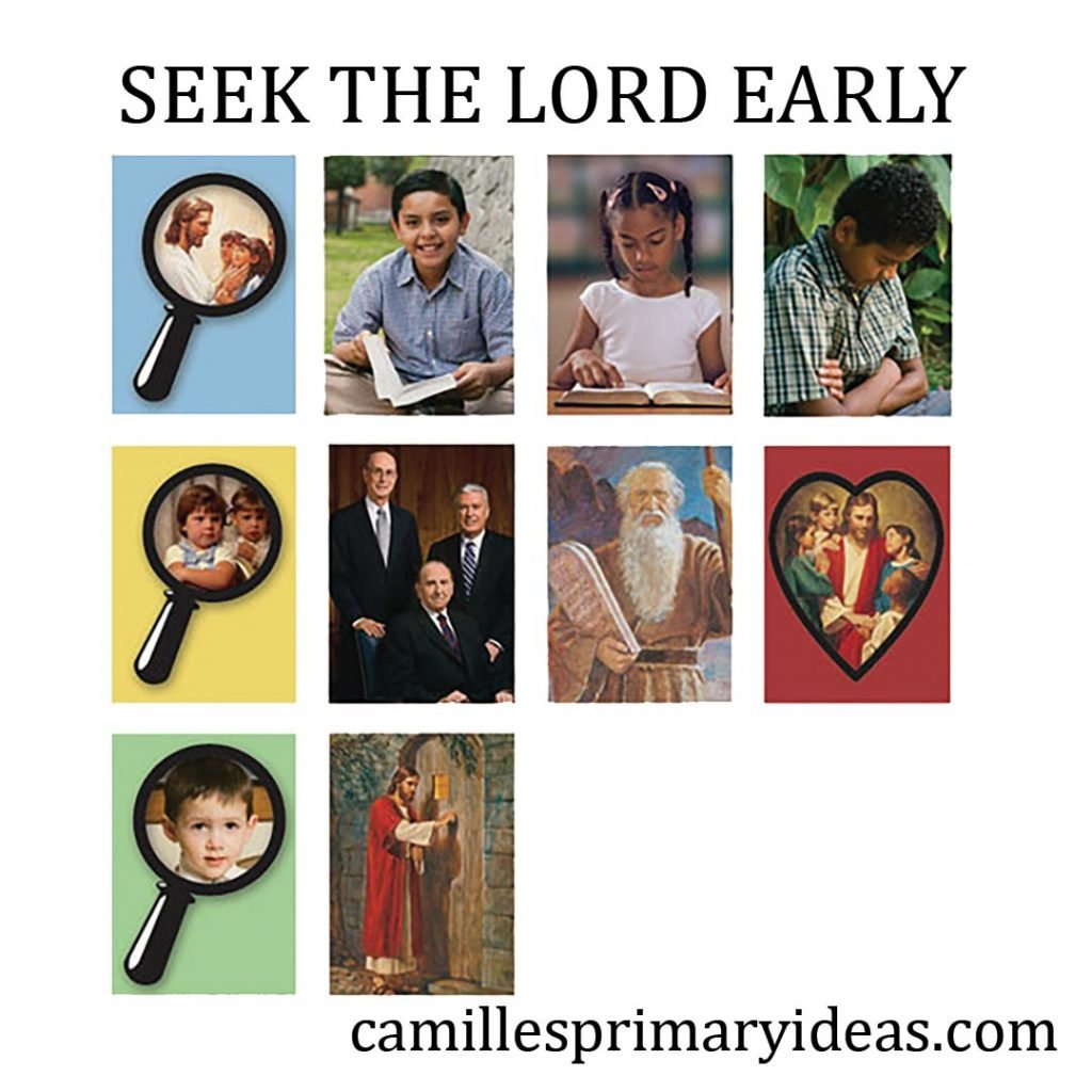 Camille's Primary Ideas: Seek the Lord Early Singing Time Lesson Plan Idea