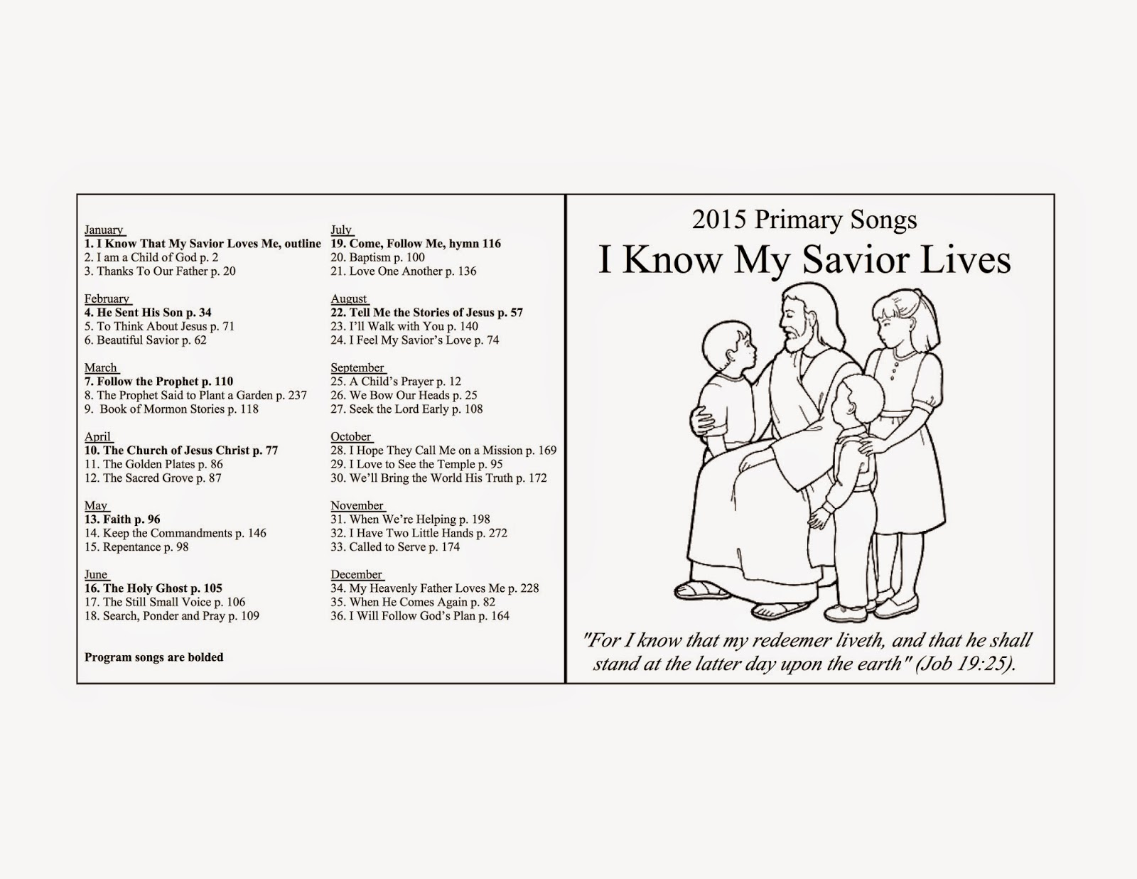 Camille's Primary Ideas: 2015 Primary Music CD for a singing time Christmas gift