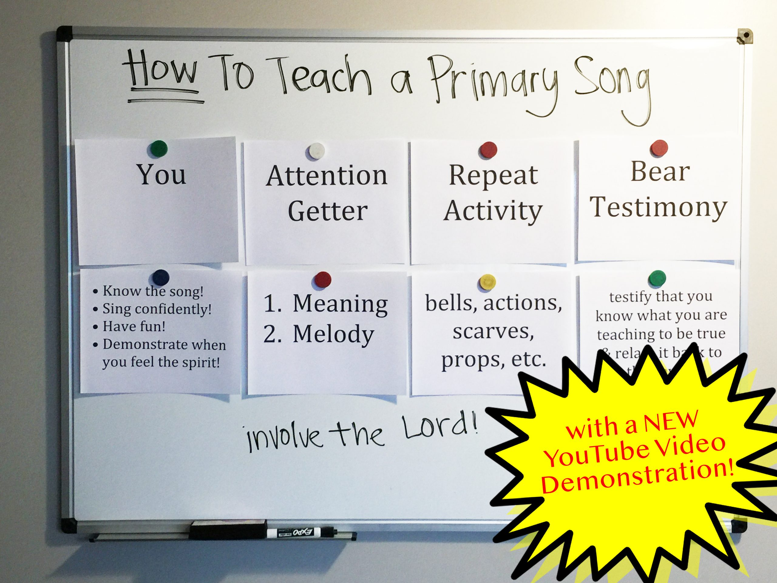 Camille's Primary Ideas: How to Teach a Primary Song in singing time