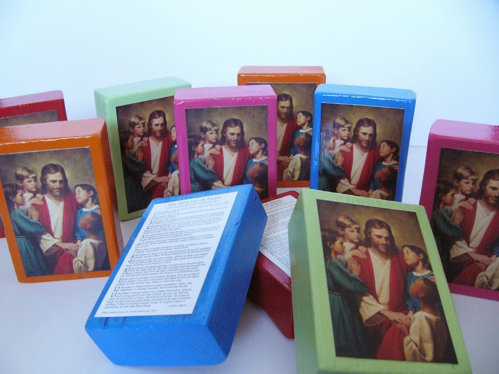Camille's Primary Ideas: Primary Article of Faith Birthday Block Gift