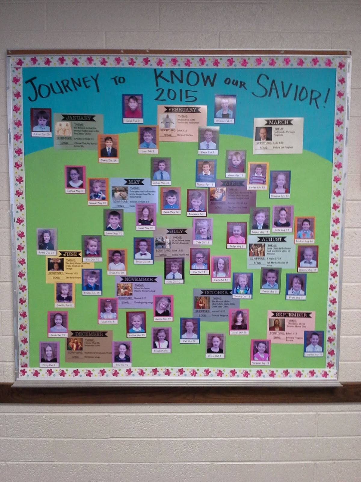 Camille's Primary Ideas: Journey to Know our Savior Primary Bulletin Board