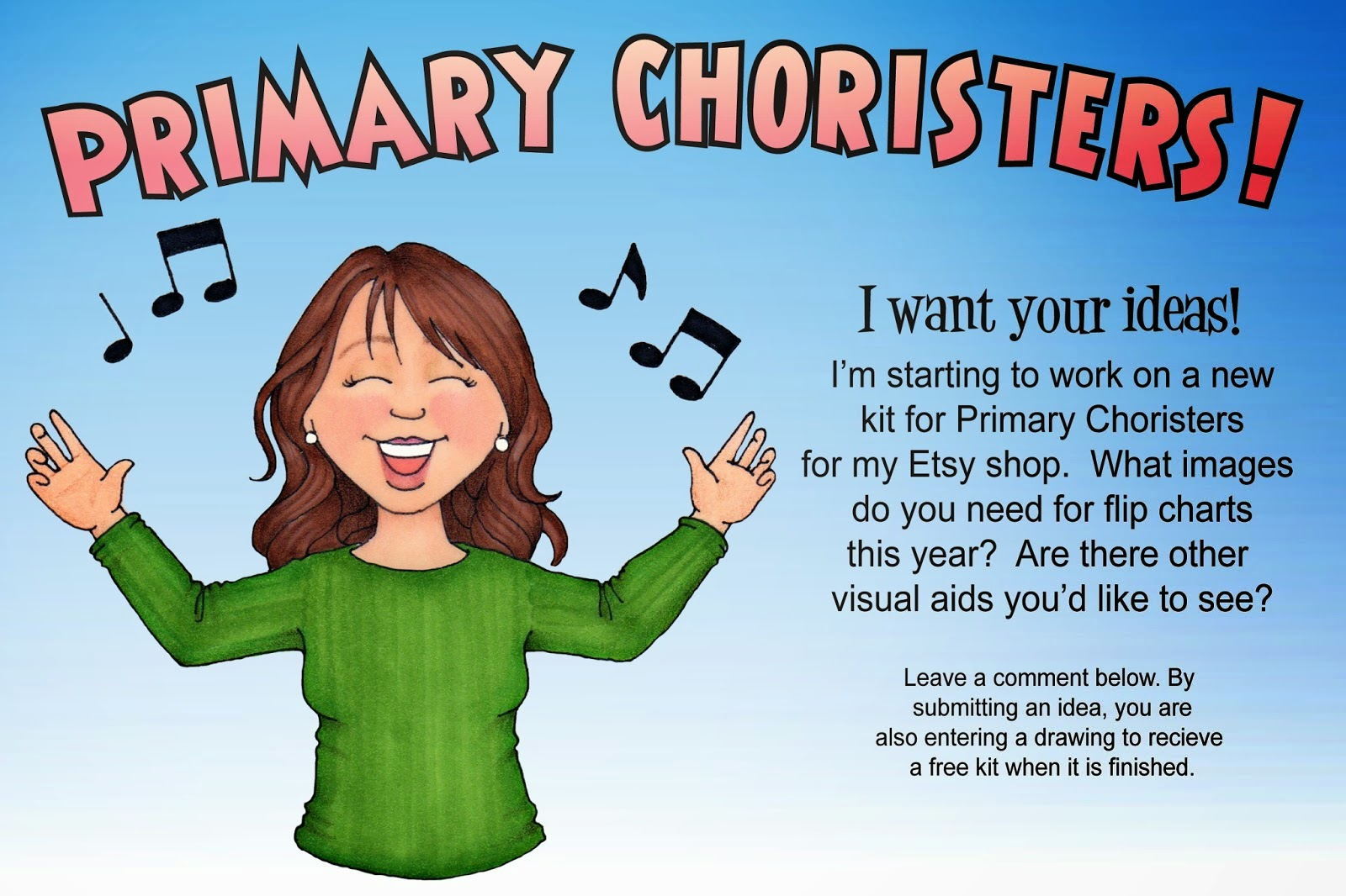 Camille's Primary Ideas: Susan Fitch is Calling all Primary Choristers