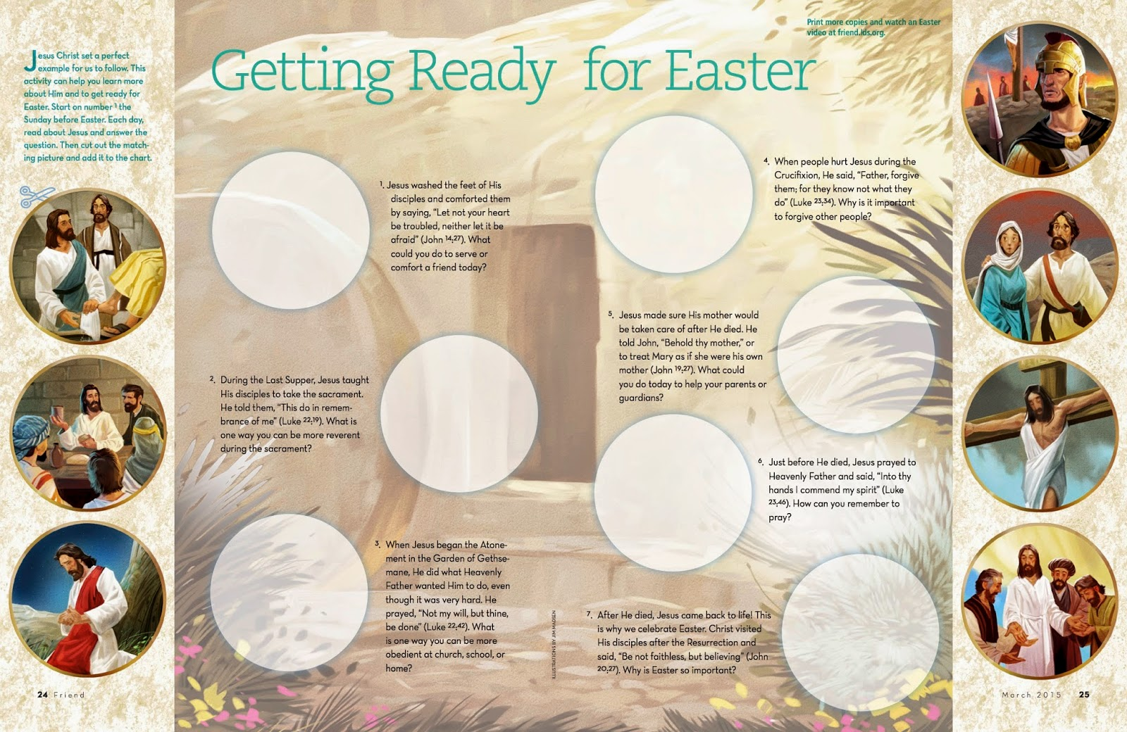 Camille's Primary Ideas: Getting Ready For Easter from the Friend Singing Time Lesson Plan Idea