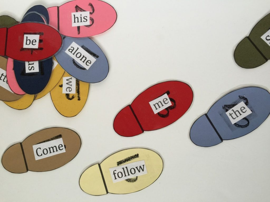 Camille's Primary Ideas: Come Follow Me singing time lesson plan activity using footsteps