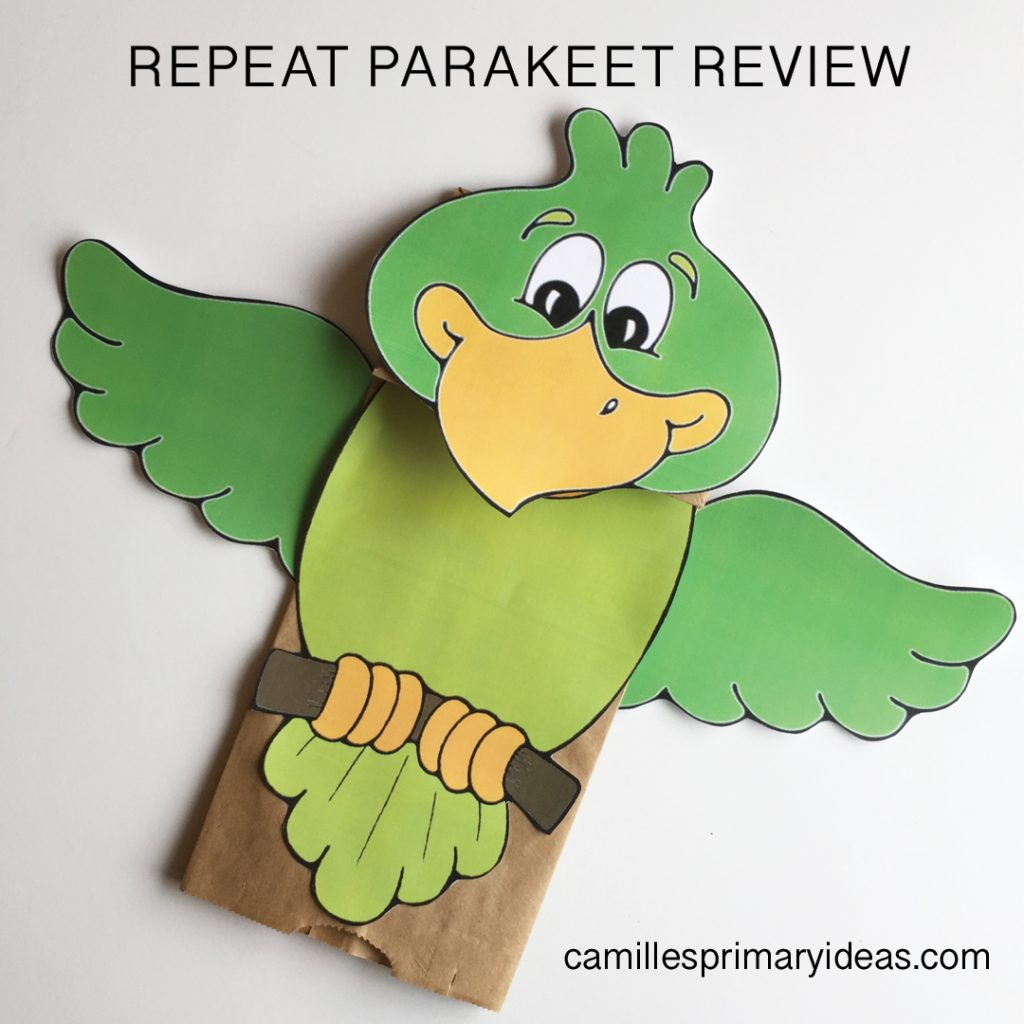 Camille's Primary Ideas: Repeat Parakeet singing time lesson plan review idea
