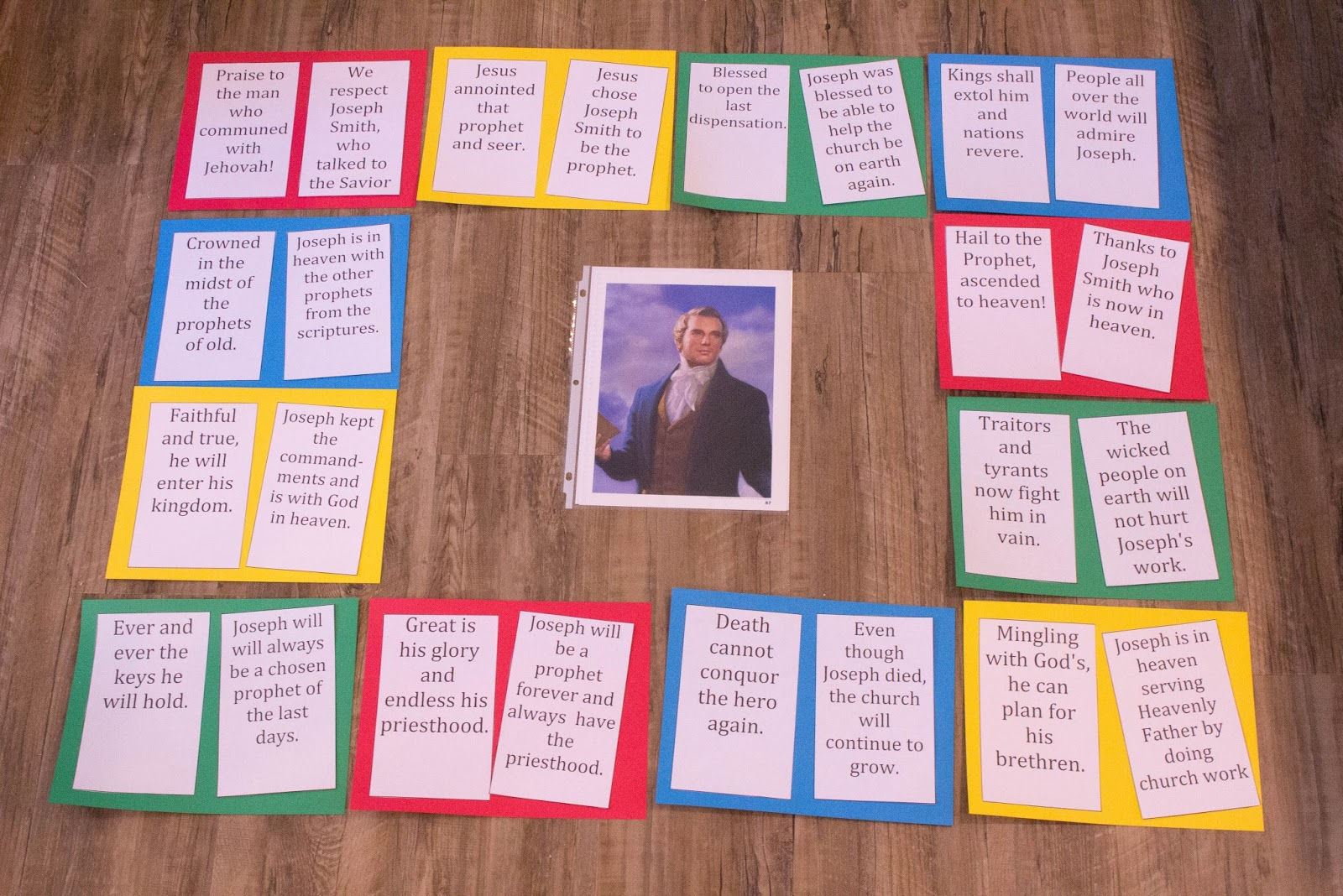 Camille's Primary Ideas: Praise to the Man Singing Time Lesson Plan Idea