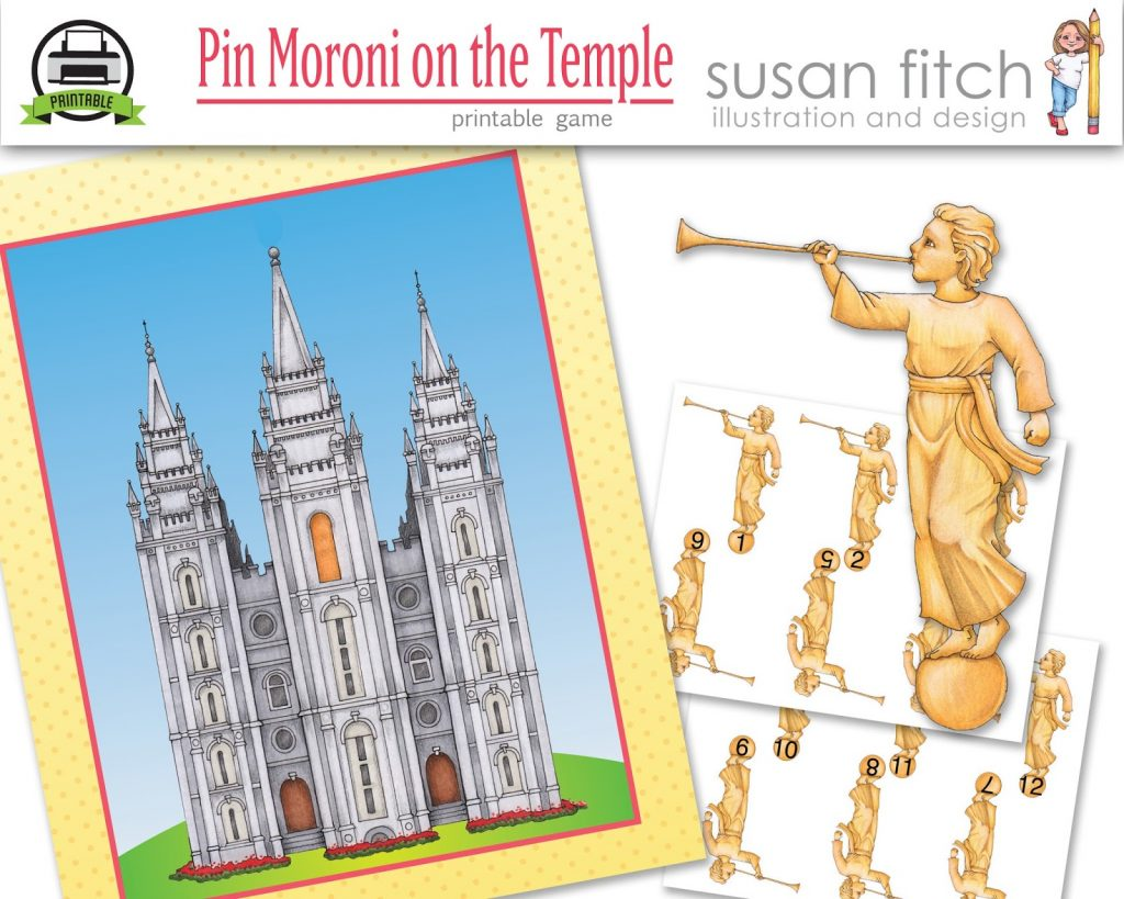 Camille's Primary Ideas: Susan Fitch's Pin Moroni on the Temple while singing I Love To See the Temple
