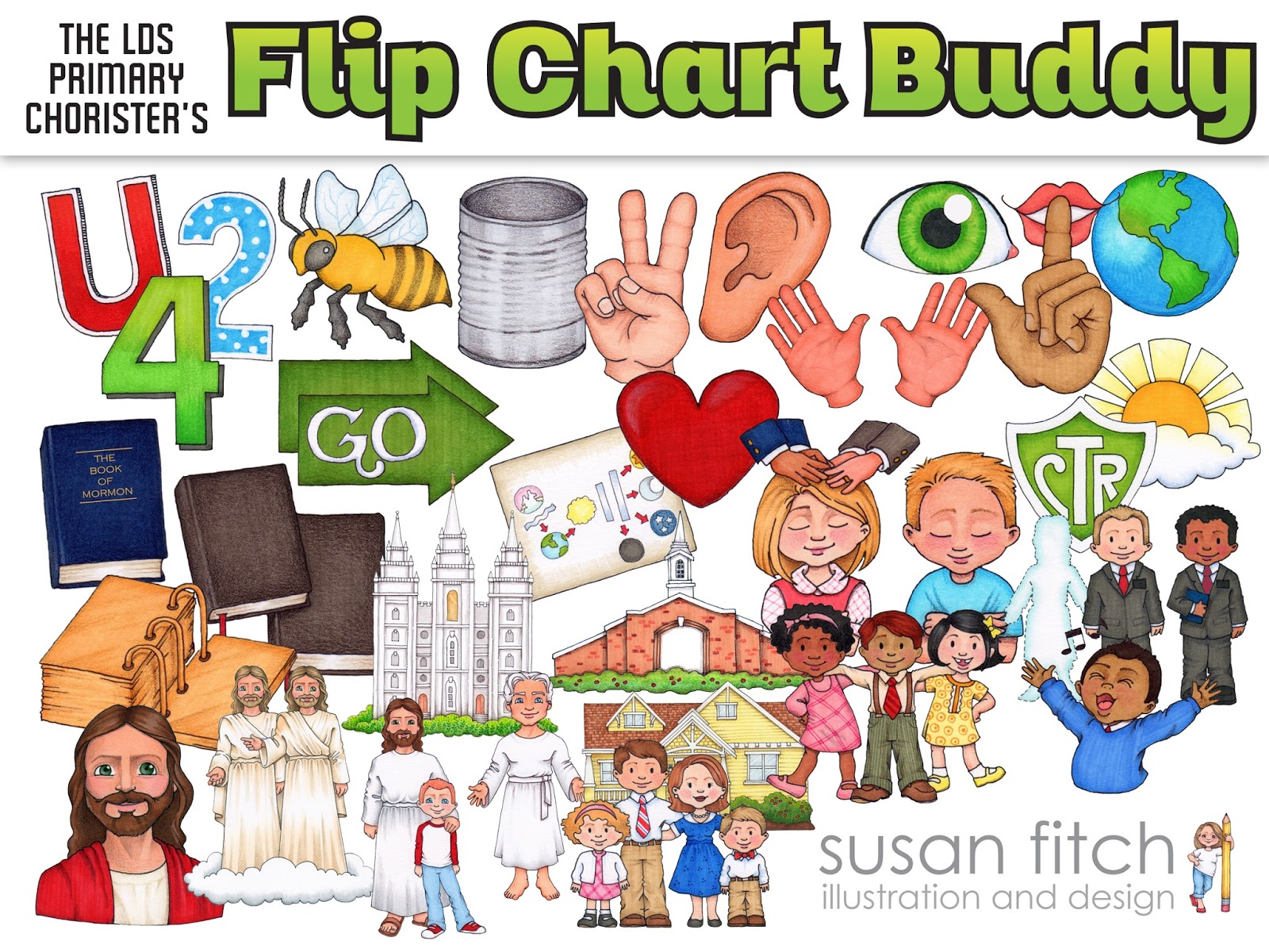 Camille's Primary Ideas: Susan Fitch Flip Chart Buddy, create your own singing time flip charts
