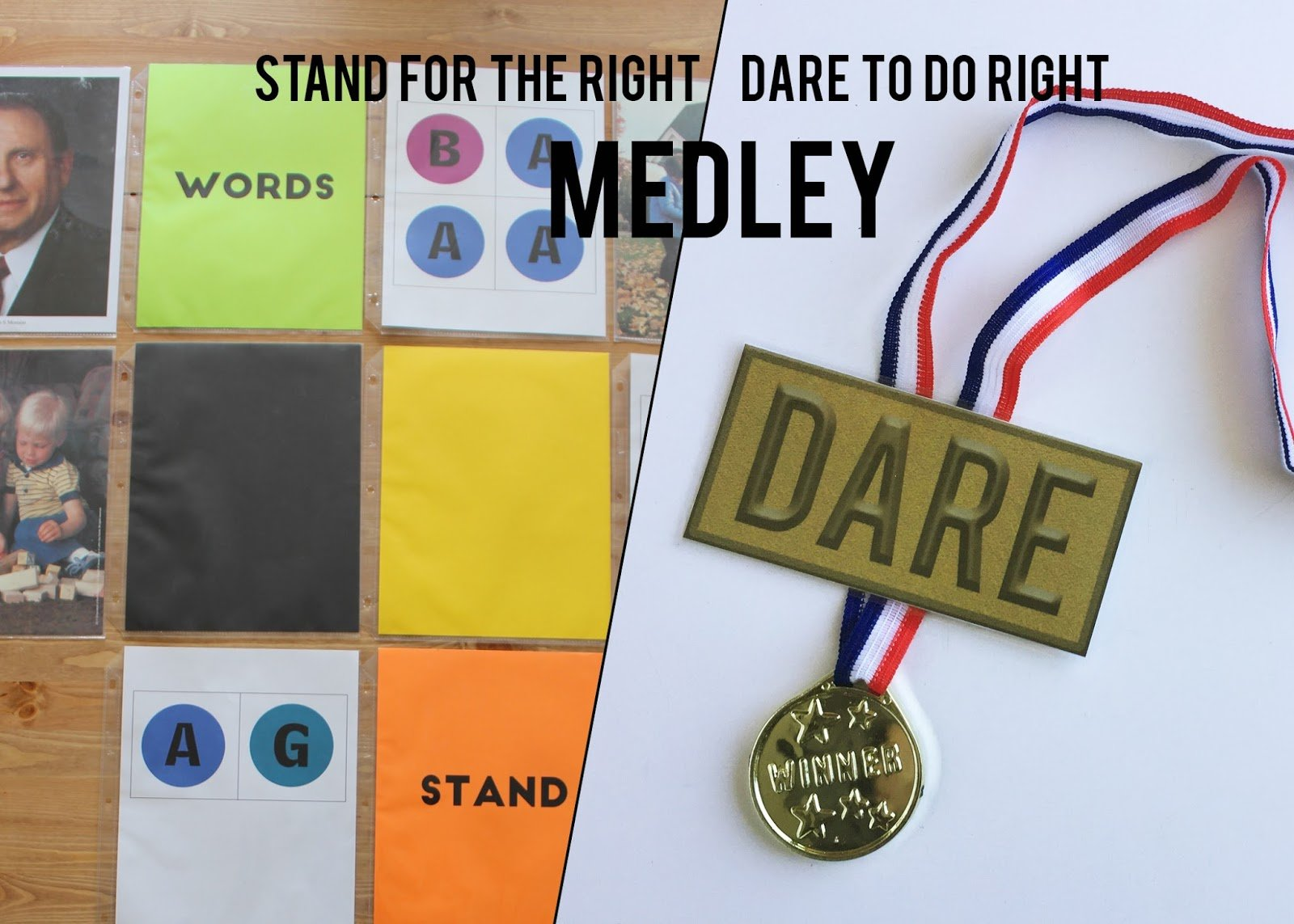 Camille's Primary Ideas: Stand for the Right / Dare To Do Right Medley Singing Time Lesson Plan Idea