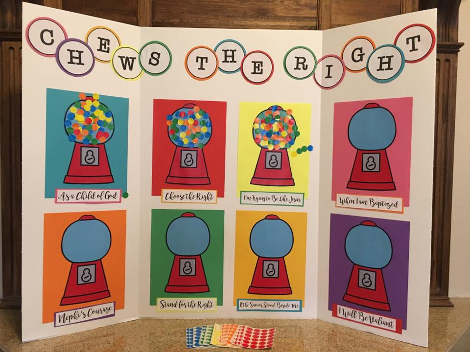 Camille's Primary Ideas: Chews the Right Primary Program Review Singing Time Lesson Plan Idea