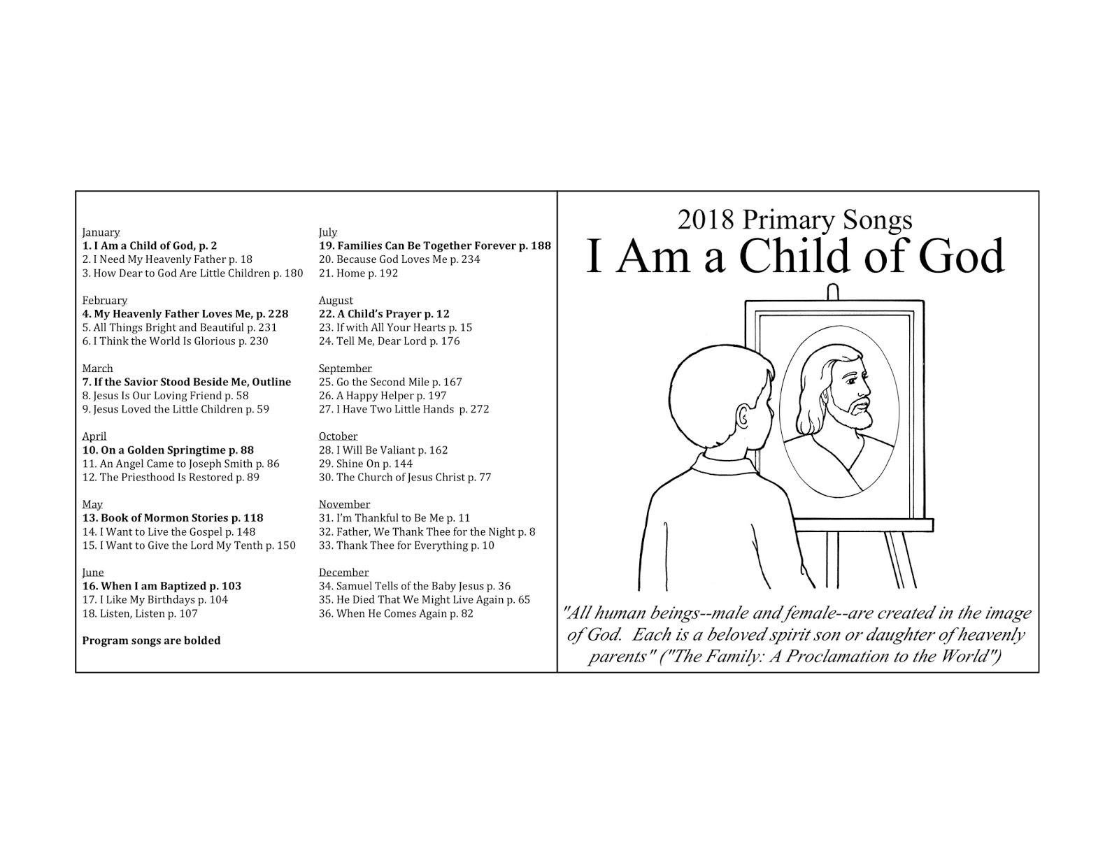 Camille's Primary Ideas: 2018 Primary Music CD