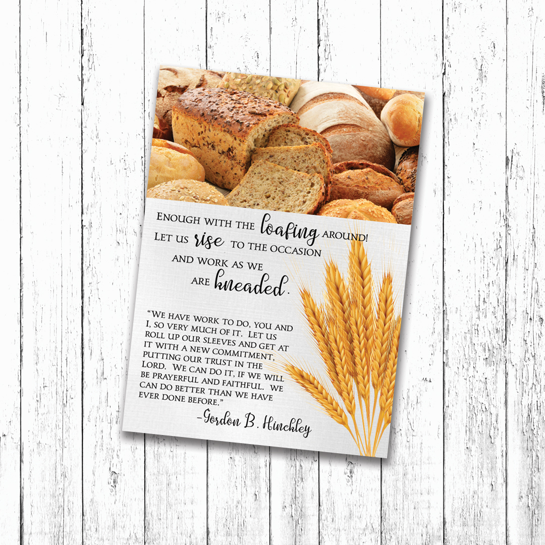 Camille's Primary Ideas: Fall Bread Gift Tag for Ministering