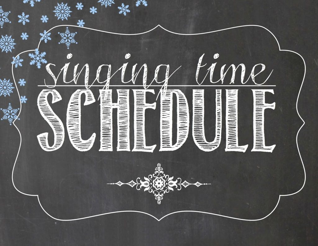 Camille's Primary Ideas January Singing Time Schedule Lesson Plan Ideas