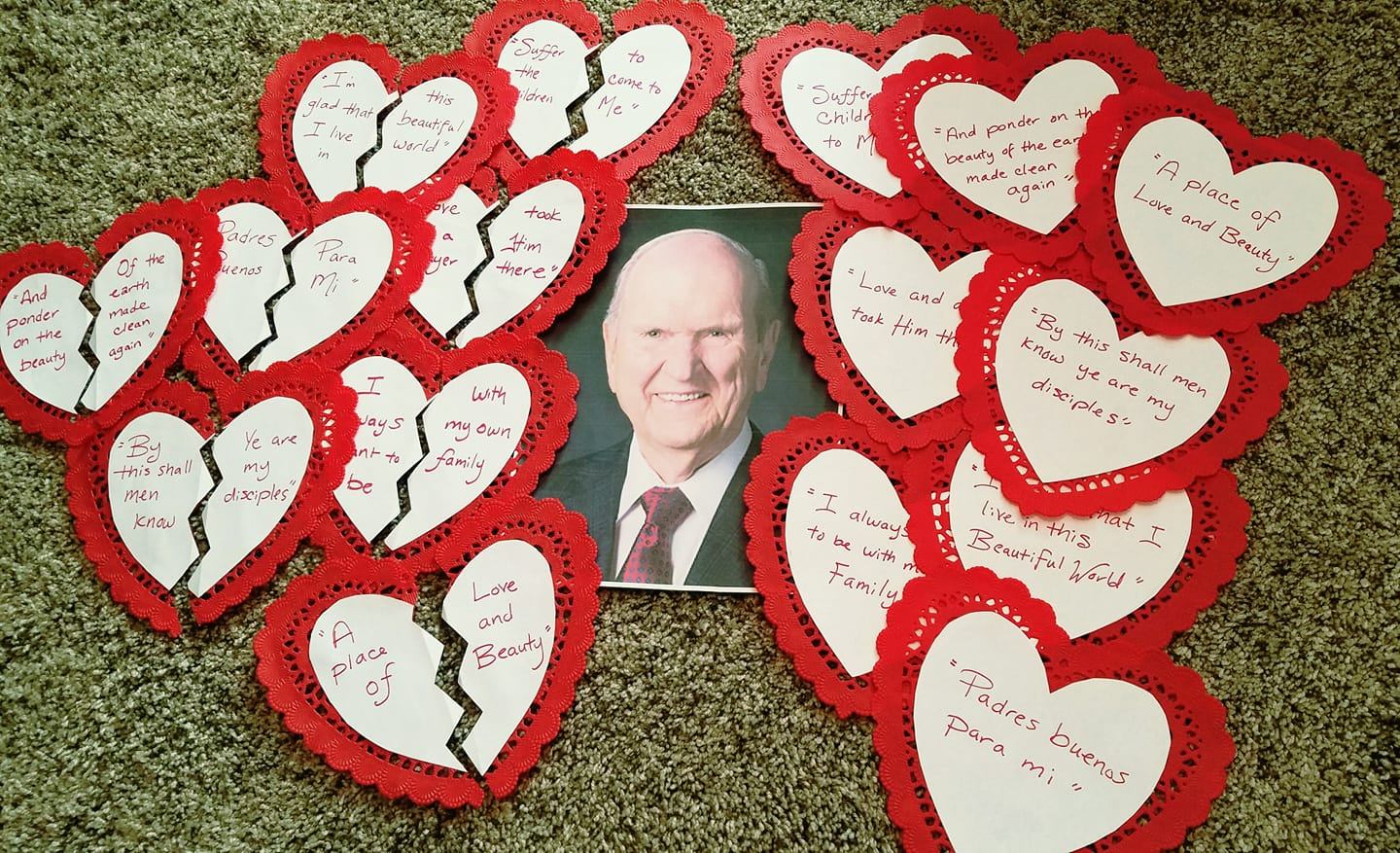 Camille's Primary Ideas: Valentine's Day President Nelson Singing Time Lesson Plan Idea