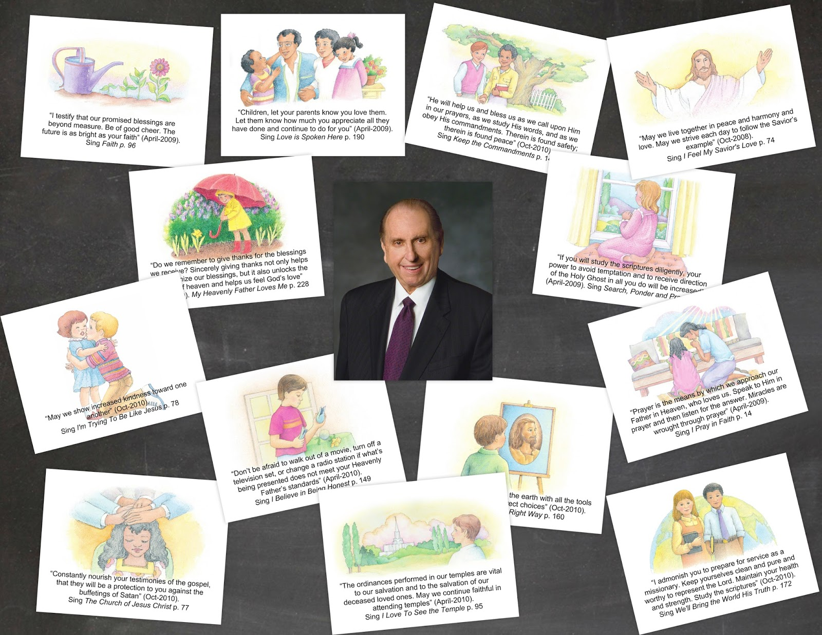 Camille's Primary Ideas: President Monson Tribute Singing Time Lesson Plan Idea