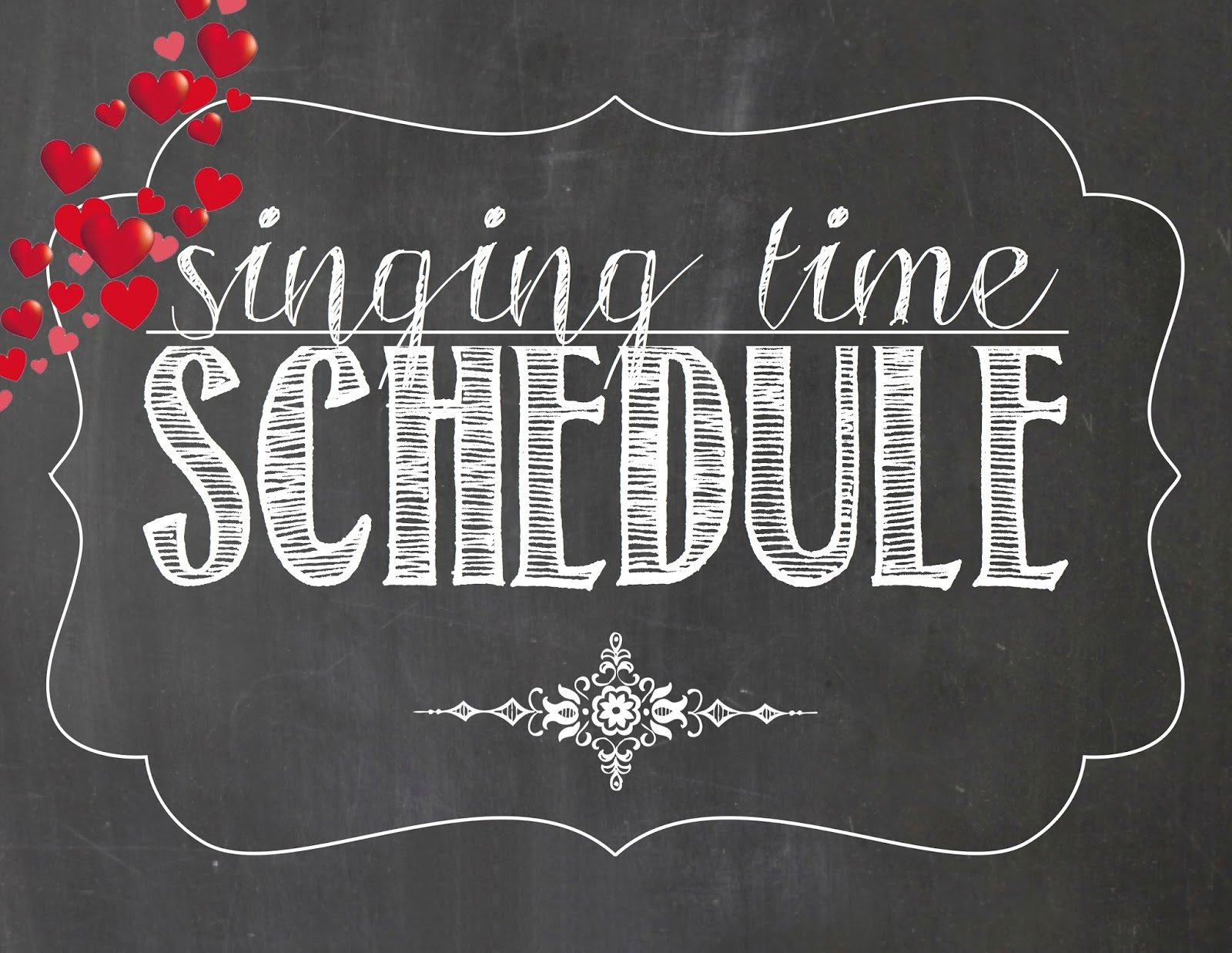 Camille's Primary Ideas: February Singing Time Schedule