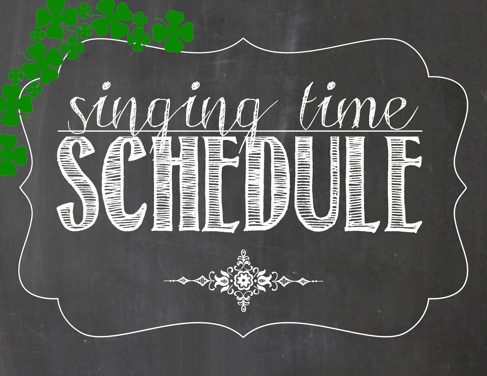 Camille's Primary Ideas: March Singing Time Schedule