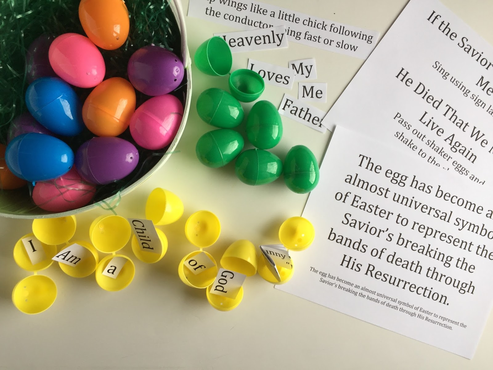 Camille's Primary Ideas: Easter Egg Review Singing Time Lesson Plan Idea
