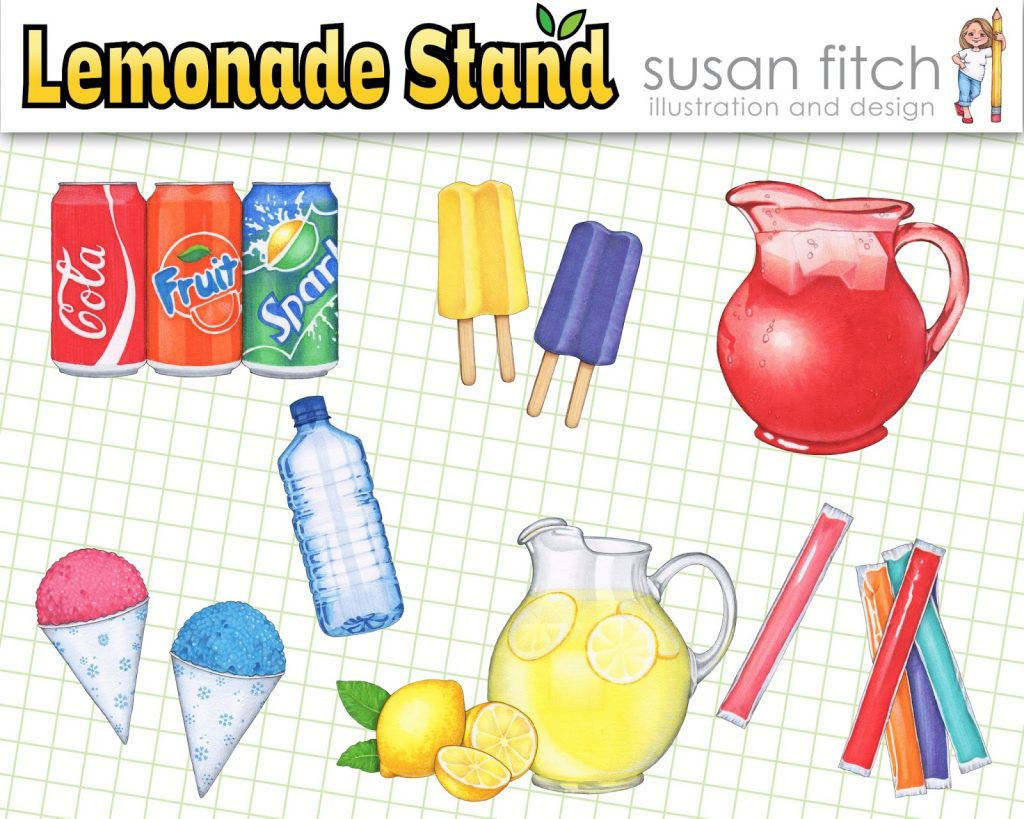 Camille's Primary Ideas: Susan Fitch Lemonade Stand Clipart Giveaway