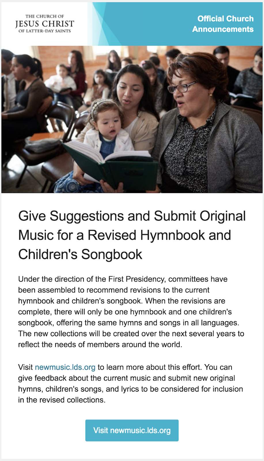 Camille's Primary Ideas: Revisions to the Hymnbook and Children's Songbook