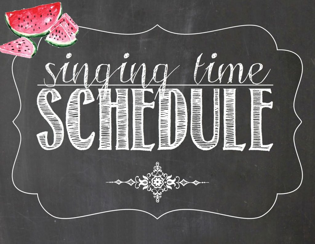 Camille's Primary Ideas: July Singing Time Schedule