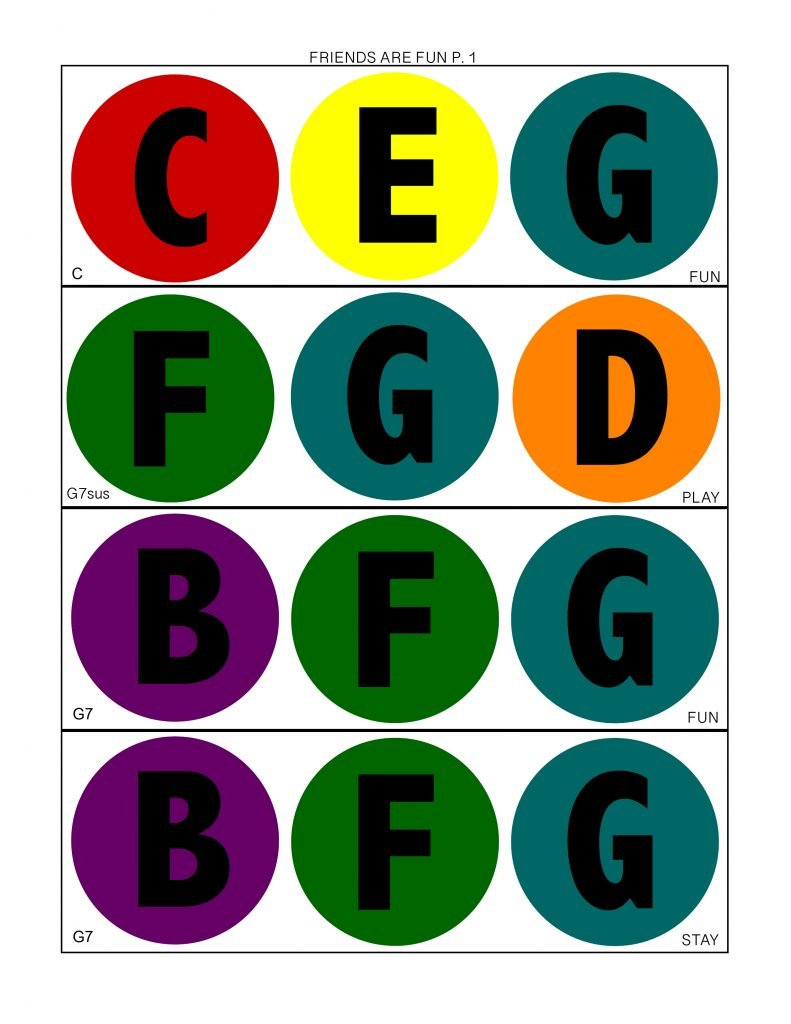 Camille's Primary Ideas: Friends Are Fun Bell chart