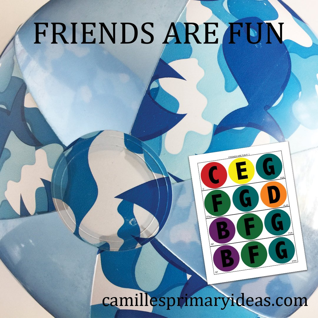 Camille's Primary Ideas: Friends Are Fun singing time idea