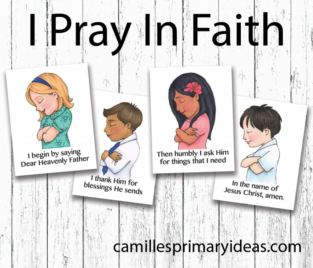 Camille's Primary Ideas: I Pray In Faith Singing Time Lesson Plan Idea