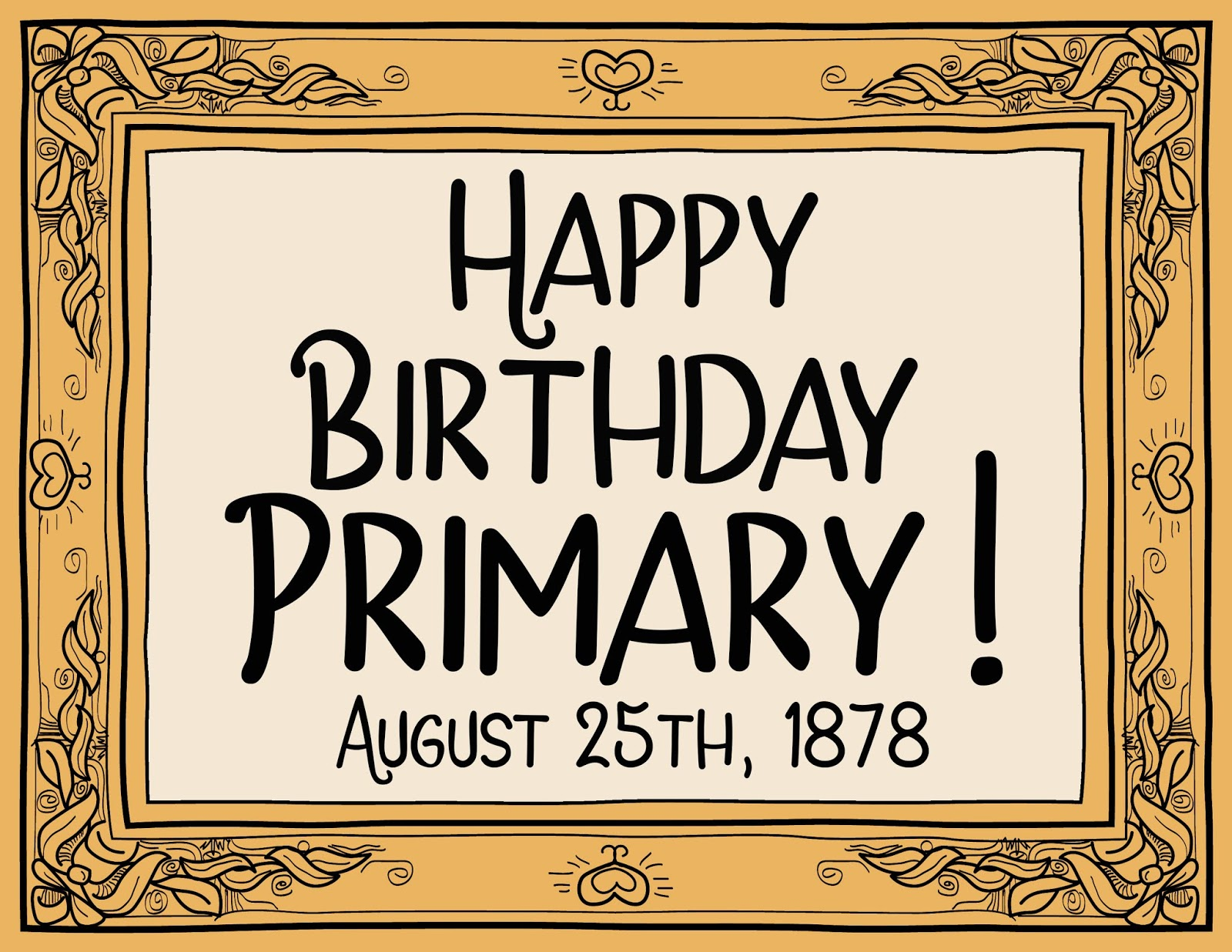 Camille's Primary Ideas: celebrate the primary's birthday by singing We Welcome You