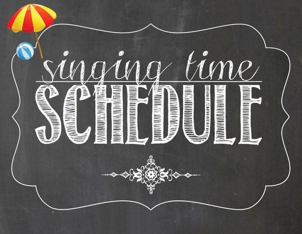 Camille's Primary Ideas: August Singing Time Schedule