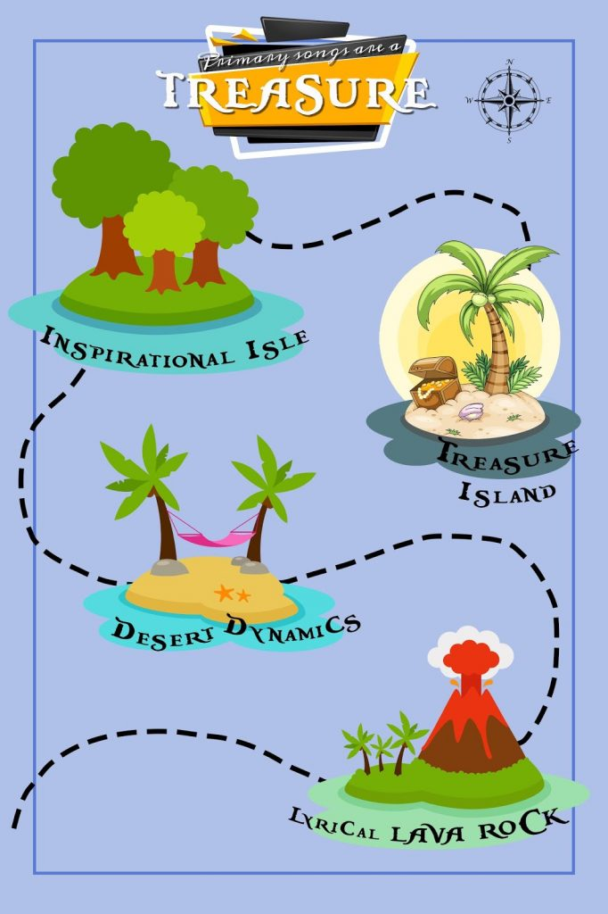 Camille's Primary Ideas: Treasure Map Program Review Singing Time Lesson Plan
