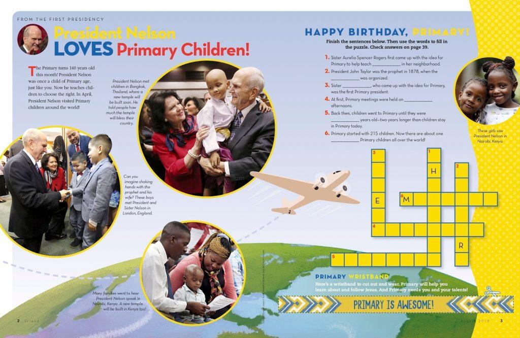 Happy Birthday Primary using The Friend Magazine