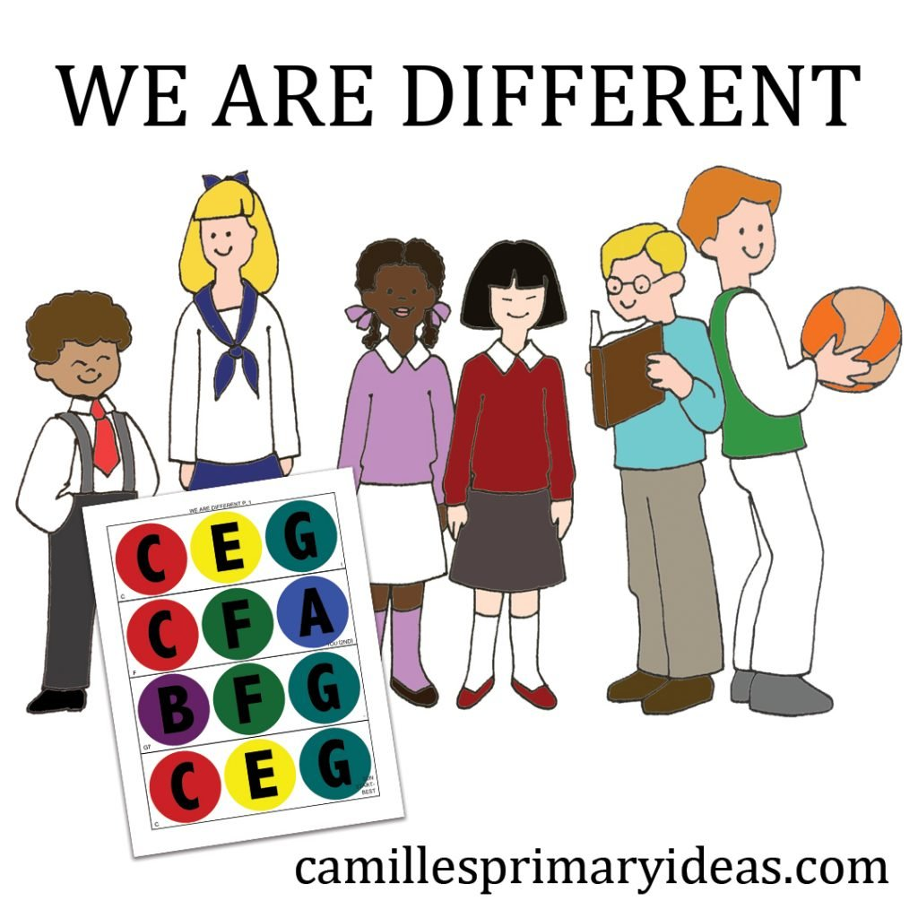 Camille's Primary Ideas: We Are Different Singing Time Idea